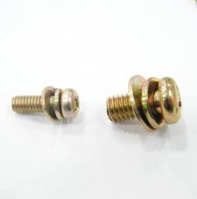 일반)둥근머리셈스볼트 (황도금) S/W + P/W